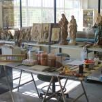 Herramientas y útiles de policromía. Pintura al temple.
