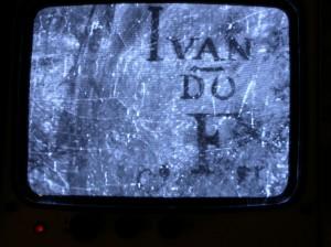 """Ivan Do"". La firma de Juan Do a la luz de infrarrojos."