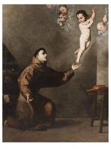 La aparición del Niño Jesús a san Antonio de Padua