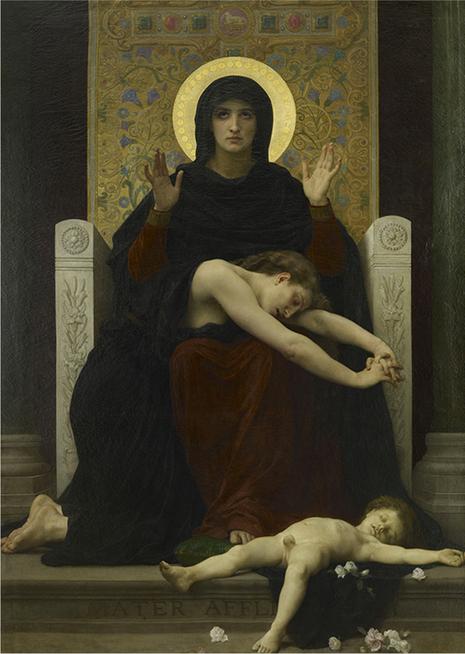 William Bouguereau Virgen de la consolación, hacia 1877
