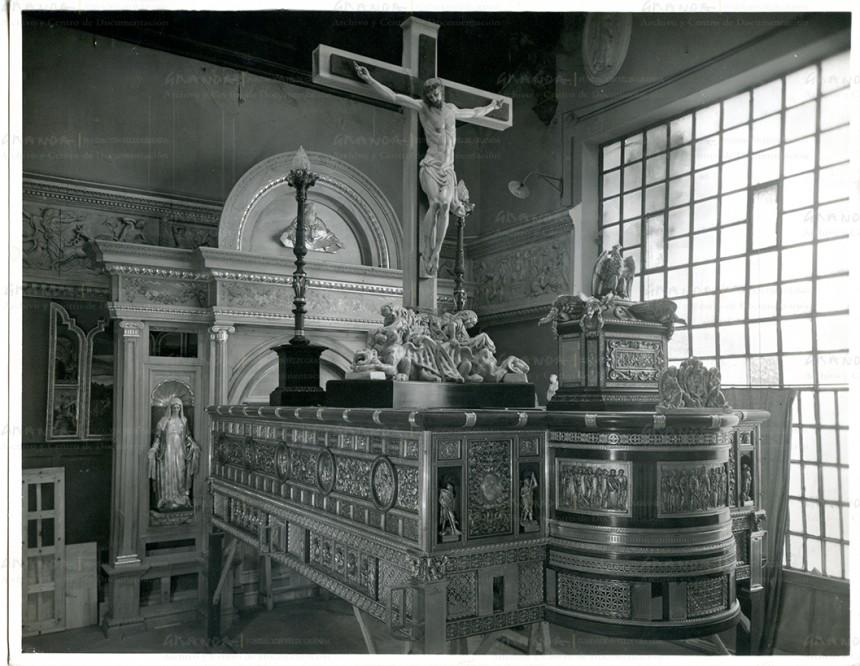 Restaurado el trono del Cristo de la Expiración de Málaga