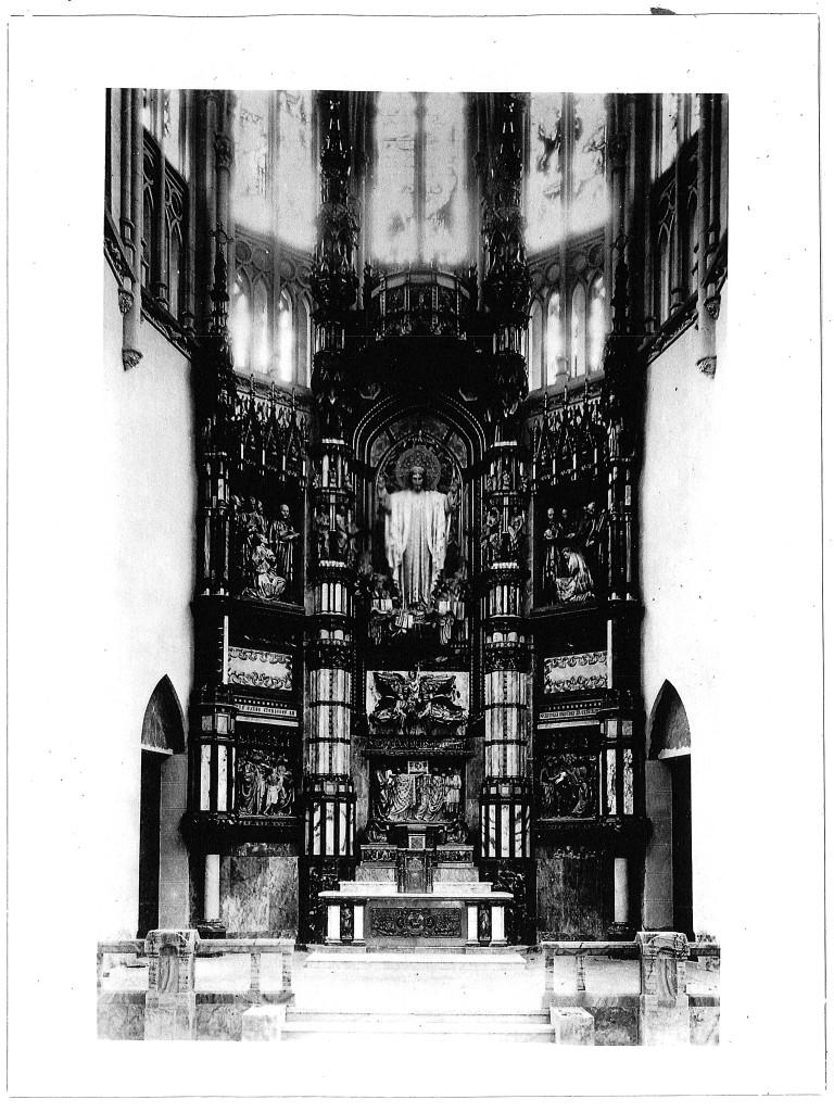 Retablo de la Iglesia del Sagrado Corazón de Reina, La Habana. Talleres de Arte. Director Félix Granda. 1922.
